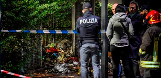 The charred corpse in Milan, the horror report
